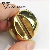 Pcc Team New Arrival Globe Hand Spinner Pure Brass Gold Color Fidget Spinner Ball Pattern EDC