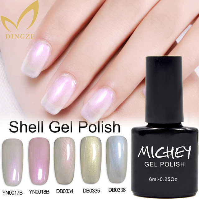 Summer Pearl Color Nail Polish Soak Off Shell Gel Manicure Varnish Shiny Lacquer