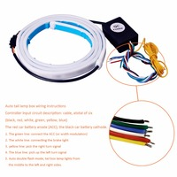 Car Styling LED RGB Undercarriage Floating Led Dynamic Streamer Turn Signal Tail Warning Lights Luggage Compartment