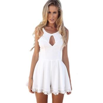 173f861ac9 Mujeres vestido de Verano 2015 sexy blanco vestido de encaje de la vendimia  trajes encaje gasa skater vestidos atacado roupas femininas crochet