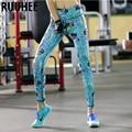 Mujeres coloridas Leggings Adventure Time Impreso Pantalones Ropa de Fitness Workout Casual Legging Femenino 2016 Nueva Moda