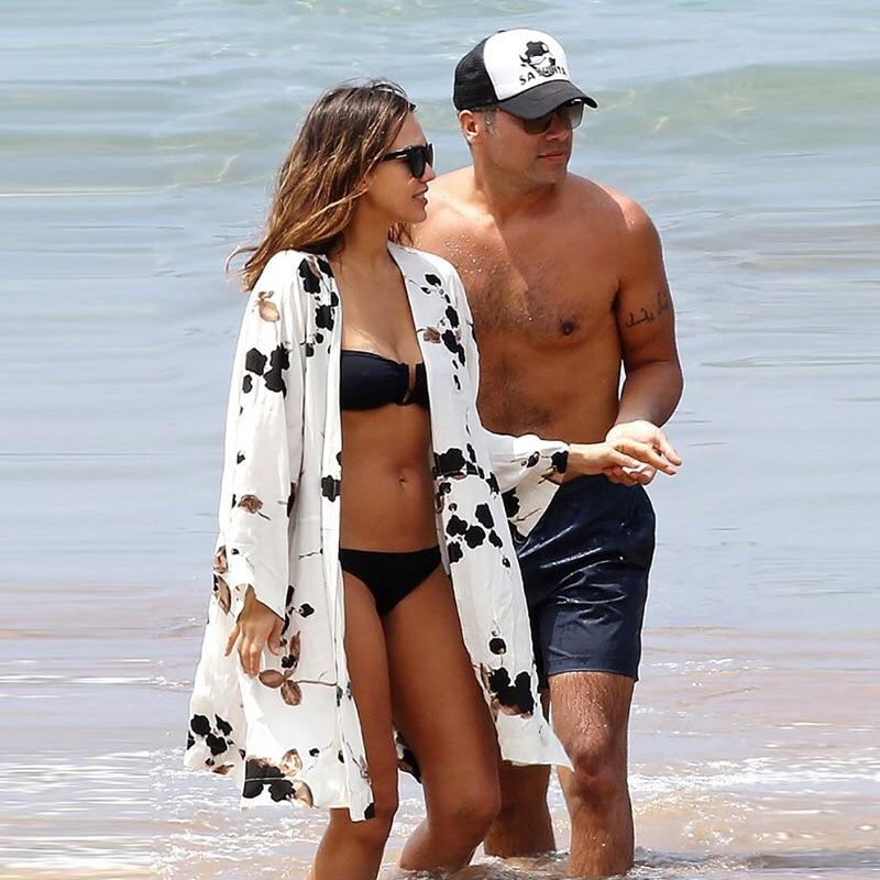 Novas Chegadas de Praia Cover up Swimwear Impressão Das Senhoras Andar na Mulheres Túnica Beachwear praia Cape Robe de Plage Saida de praia