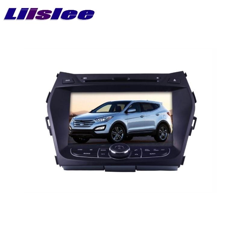 For Hyundai Santa Fe ix45  ix 45 Maxcruz LiisLee Car Multimedia TV DVD GPS Audio Hi-Fi Radio Original Style Navigation Advanced