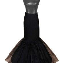 Белый/черный длинный подъюбник русалки для свадебного торжества кринолин нижняя юбка Saiote De Noiva 1 обручи