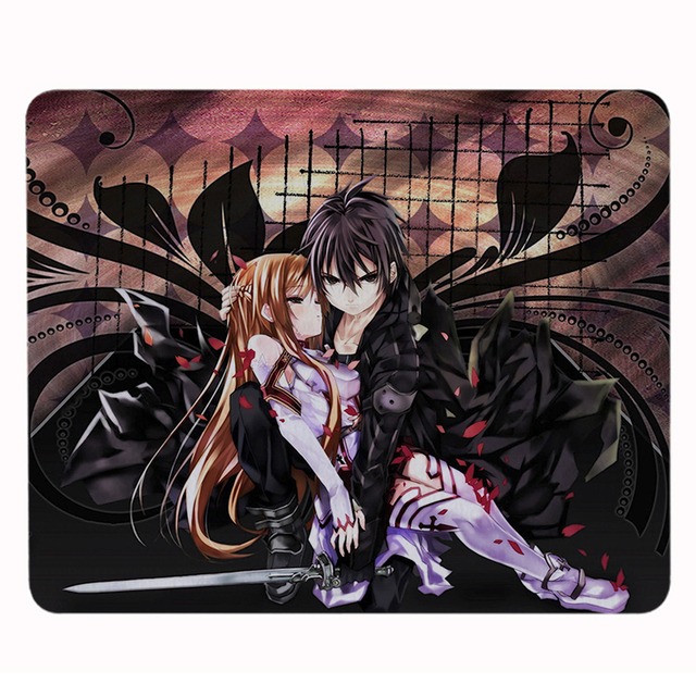 Hot Lovely Cartoon Anime Sword Art Online Gaming Mouse Mats Anti-Slip Rectangle Mouse Pad Customized Supported
