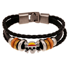 One Piece Mugiwara Leather Bracelet