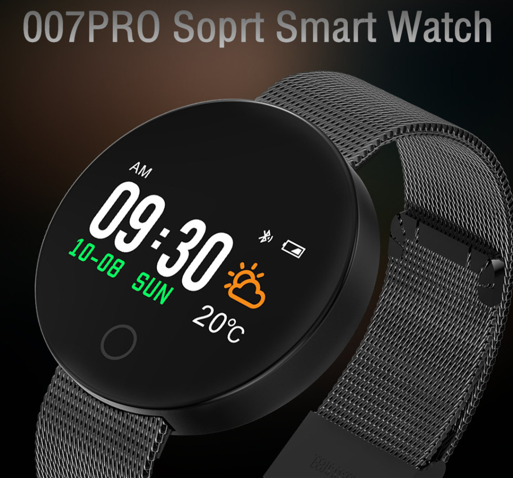 New Sports Smart Watch 007 Pro Women Bluetooth Heart Rate Fitness Tracker Smart Watch Men Smart Wristbands For Android IOS Reloj 2017 smart watch gps sports watch fitness heart rate tracker smart healthy watch reloj inteligente for android ios8 smartwatch