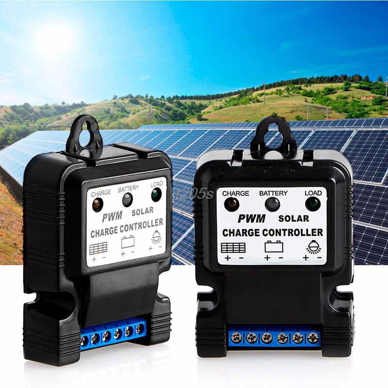 Auto Solar Panel Charge Controller Battery Charger Regulator New 6V 12V 10A PWM T15 Drop ...