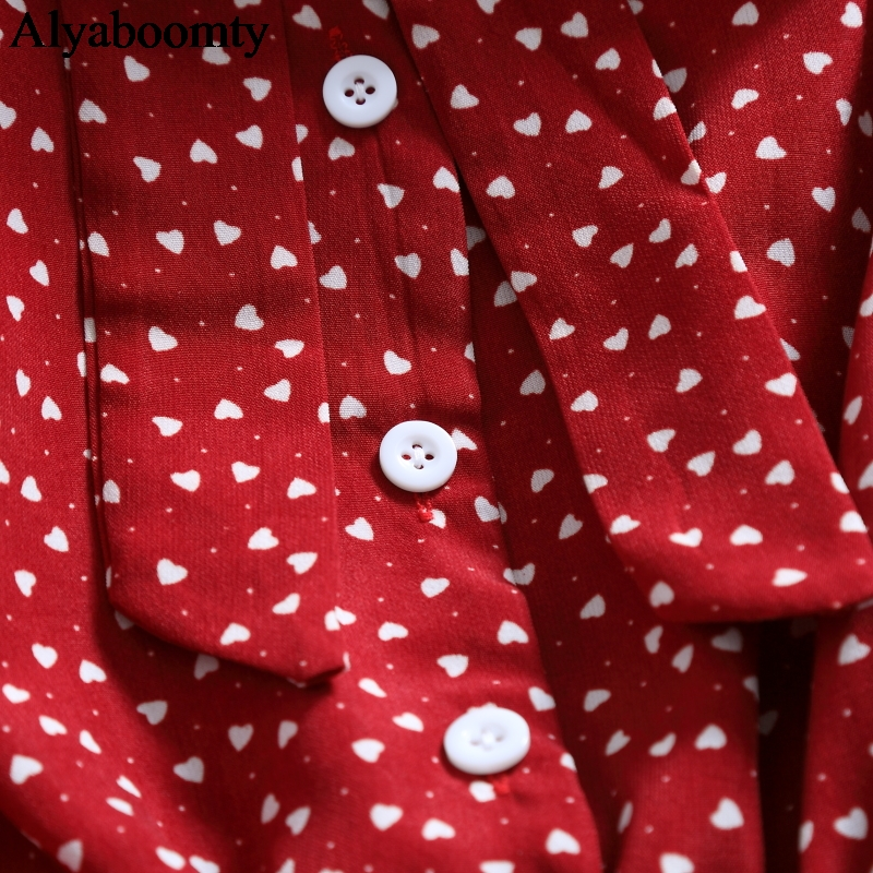 Mori Girl Spring Autumn Women Long Dress Bow Collar Floral Print Split Elegant Dress Korean Chiffon Red Black White Midi Dresses