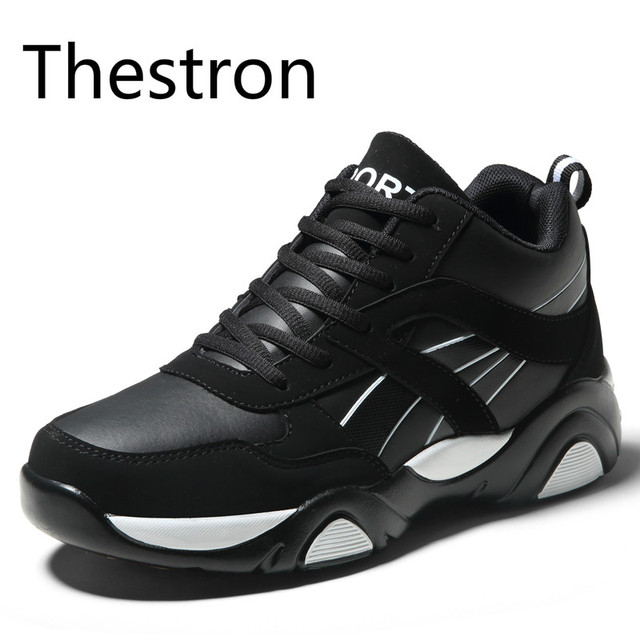 Sport Shoes Men High Quality Running Shoes New Sneakers Men Leather Black Red White Blue Sneakers Comfortable Fast Free Shipping