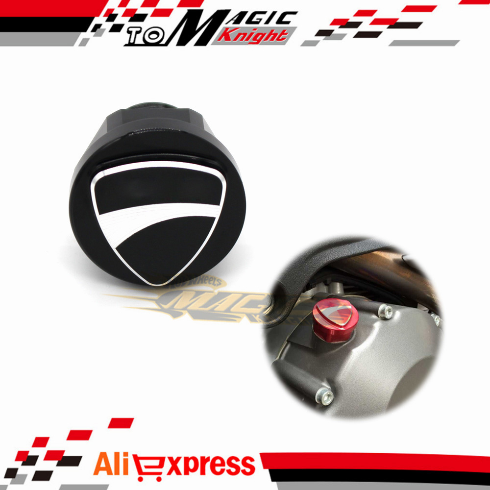 Special Motorcycle Accessories 3D Logo Billet Aluminum Oil Cap Filler Cover Screw For DUCATI MONSTER 696 796 1200/S Black