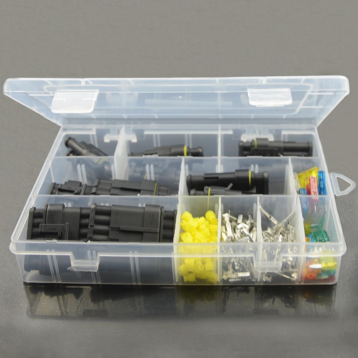 imágenes para Junhom Alambre Conector Auto Car Hid Caja Set de 1 a 6 Vías Conector Eléctrico A Prueba de agua y La Cuchilla Fusible