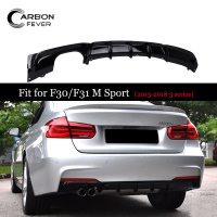 Back Bumpers Diffuser For BMW F30 F31 M Sport Models 2012+ 316i 318i 320i 328i 330i 335i 340i Gloss Black Rear Bumper Diffusers