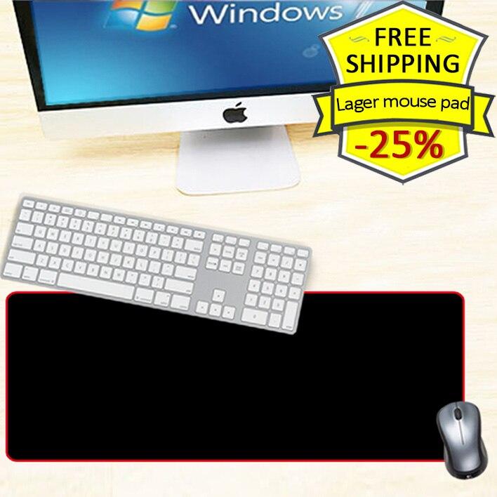 600x300mm liels birojs peles paliktnis sarkans / zils / melns slēdzenes malas DIY peles paliktnis klēpjdatora galdiņš klaviatūra PC gamer dators neslīdošs paklājs