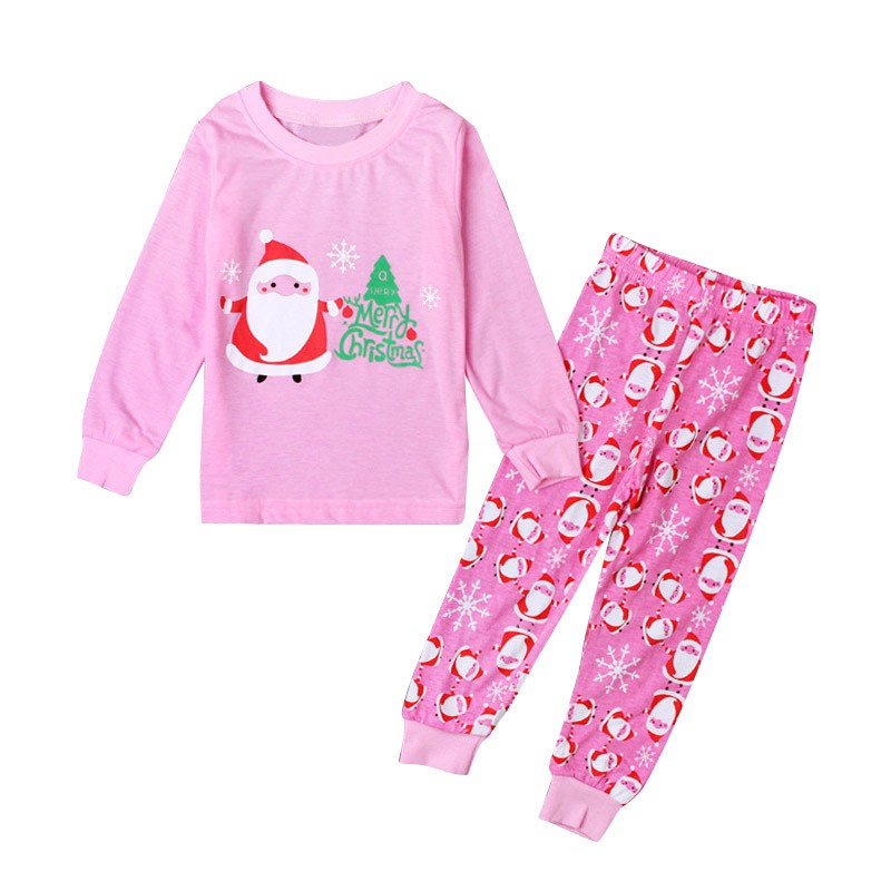 2-8Y Christmas Kids Baby Girl Santa Home Sleepwear Toddler Nightwear Pajamas Set