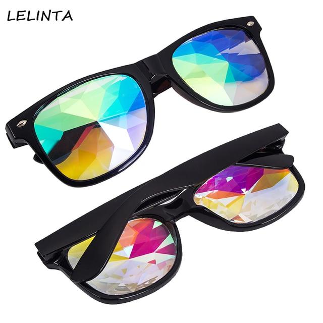 d1eede2d4bc9 LELINTA Kaleidoscope Cool Glasses Rainbow Crystal Lens Goggles Steampunk  Glasses Goggles Rave Light Diffraction Festival Eyewear