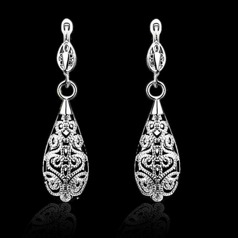 pendientes Sterling-silver-jewelry mujer earrings 925 brincos plata long orecchini oorbellen women a1t3 jewelry hoop silver 151
