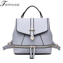K8934 Multi use High quality PU Leather Mochila Escolar School Bags For Teenagers Girls Top handle
