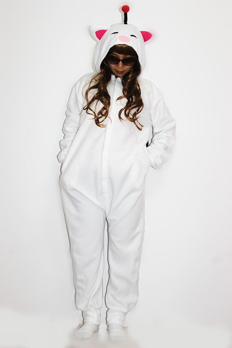 Vuxna Kigurumi Cosplay Kostym Final Fantasy MOG Moogle Onesie Pyjamas - Maskeradkläder och utklädnad - Foto 2