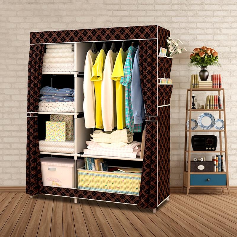 When The Quarter Wardrobe DIY Non woven Fold Portable Storage Cabinet Multifunction Dustproof Moistureproof Closet-in Wardrobes from Furniture