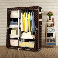 When The Quarter Wardrobe DIY Non woven Fold Portable Storage Cabinet Multifunction Dustproof Moistureproof Closet