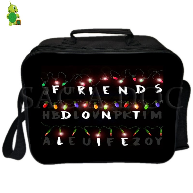 Stranger Things Eleven Lunch Bag Fresh Keeping Ice Cooler Bag Thermal Insulation Bag Women Men Picnic Camping Shoulder Bag-in Lunch Bags from Luggage & Bags