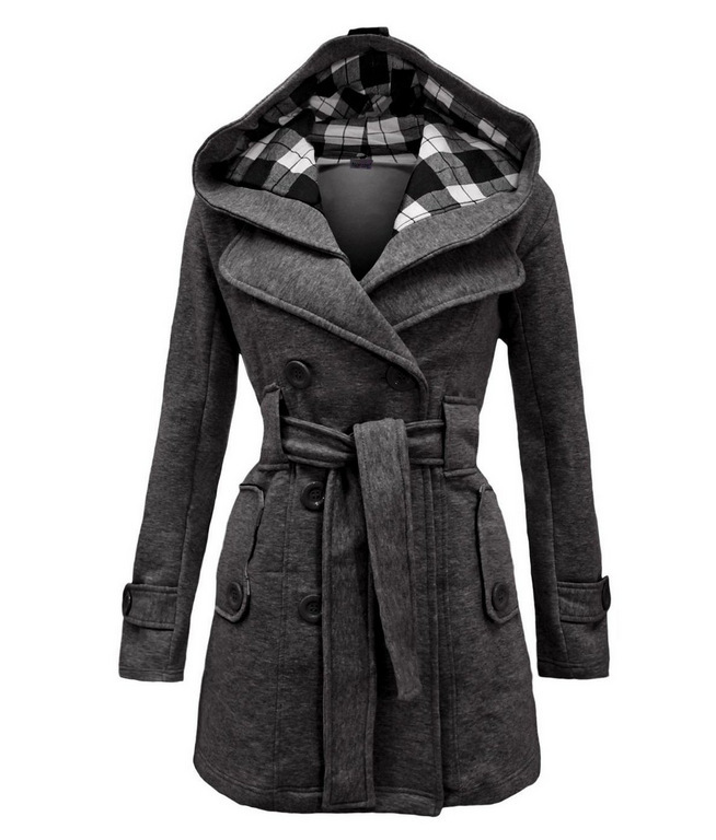 2018 New Designer Women Wool Blends Full Sleeve Oversized Coats Jackets Double Breasted Outwear Party Plus
