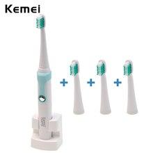 Водонепроницаемый Аккумуляторная Sonic Электрическая Зубная Щетка Зубная Щетка с Зарядки Док и 4 Насадки Для Взрослых Дети Устные Hygiene-P4547