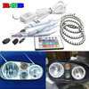 4pcs Super Bright 7 Color RGB LED Angel Eyes Kit With IR Remote Control Car Styling