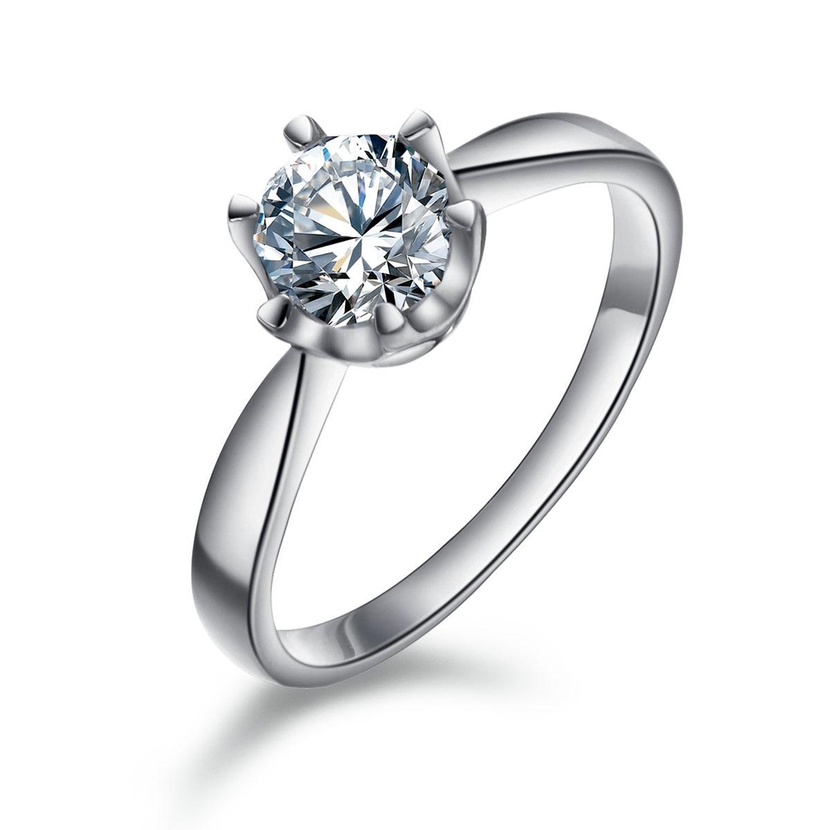 Fingerring  Day gift pink classic Women diamond finger ring diamond ring ...