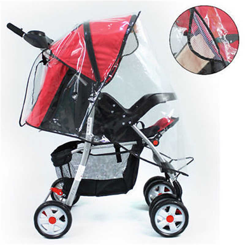 Hot Universal Baby Buggy Pushchair Stroller Pram Transparent Clear Rain Cover