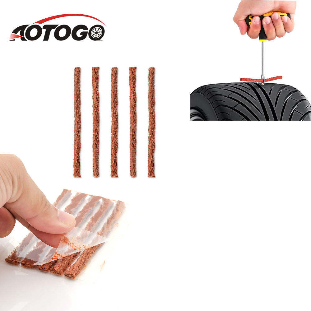 5Pcs/set Tubeless Tire Repair Strips Stiring Glue For Tyre Puncture Emergency Car Motorcycle Bike Tyre Repairing Rubber Strips