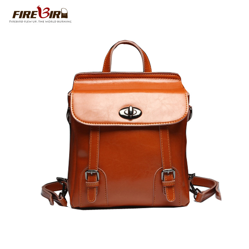 Vintage Genuine Leather Backpack England Style Multi-function School Backpack Brand Designer Real Skin Women Bag Cowhide Z106