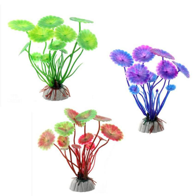 Artificial Aquarium Plant Decoration Fish Tank Submersible Flower Grass Ornament Decor For Aquarium Underwater Plant 10-30cm 2