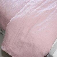 Розовый французский из стираного льна листов льна белье лист детская кровать крышка белье постельное белье Лето и Осень 2018 простыня