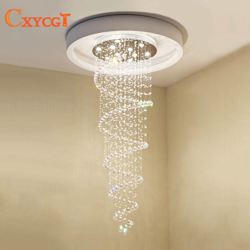 Rapture Fashion Stainless Steel S Shaped K9 Crystal Ceiling Lights Led Lamps Led Ceiling Lamps Gu10 Led Lustre Light Ceiling Lamp Lights & Lighting