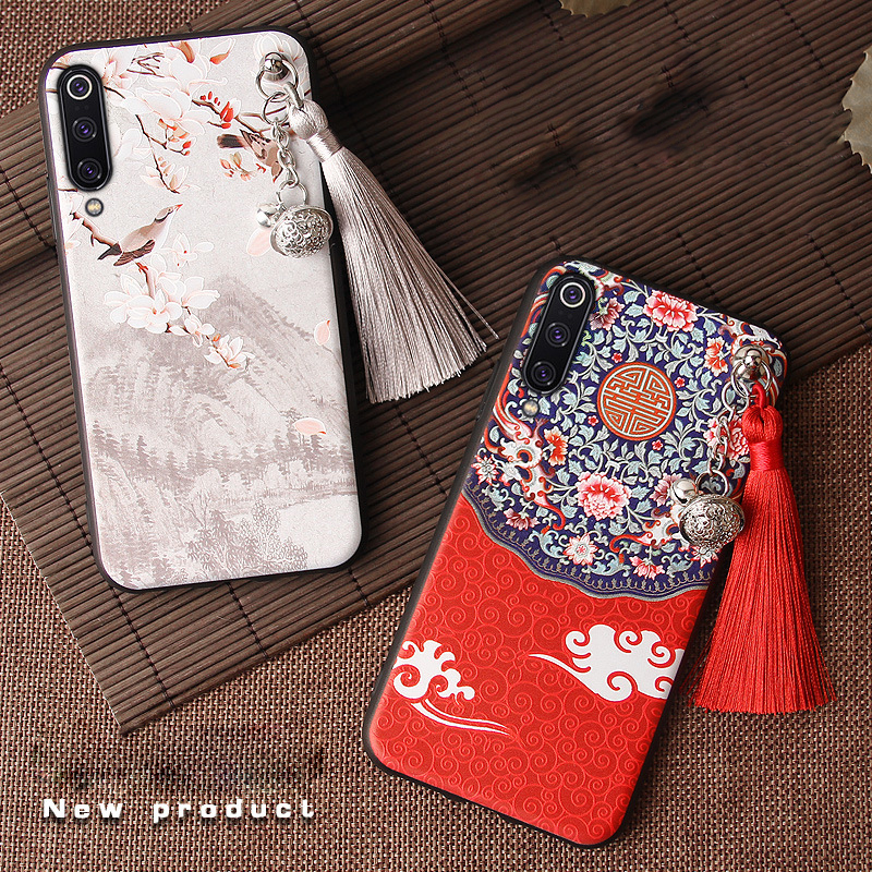3D Relief <font><b>Case</b></font> for Xiaomi Mi 9T <font><b>Pro</b></font> 9 SE CC9 CC9E A3 A2 8 Lite 8X Redmi <font><b>K20</b></font> <font><b>Pro</b></font> Note 7 6 <font><b>Case</b></font> Emboss Tassel Antiknock Soft Cover image