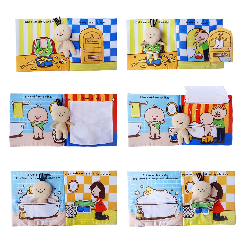 Baby Book Kids Children Toddler Soft Fabric Cloth Quiet Books Early Educational Learning Resource Soft Cloth Development Toy Fun
