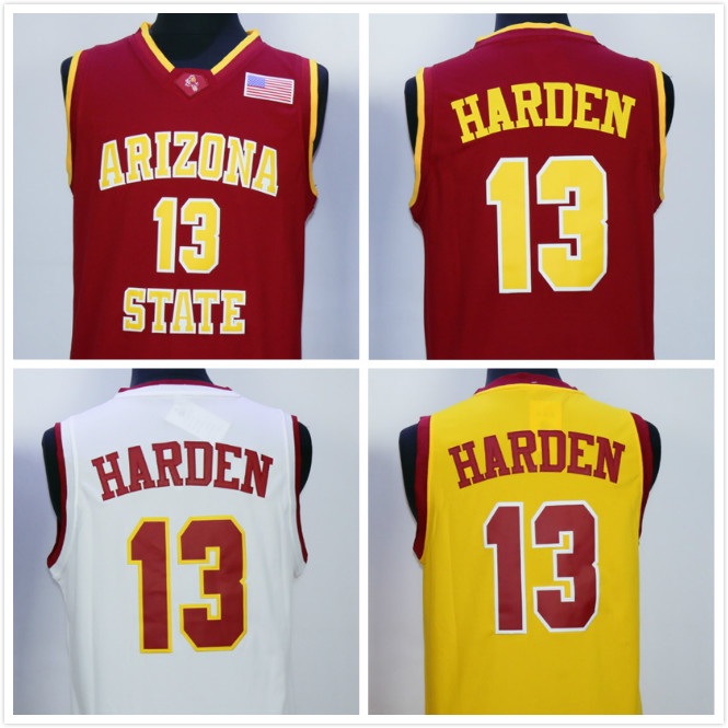 Mens James Harden Arizona State Throwback College Basketball Jersey Stitched michael jordan jersey 23 north carolina tar heels basketball jersey throwback men s college jersey sport shirt all stitched