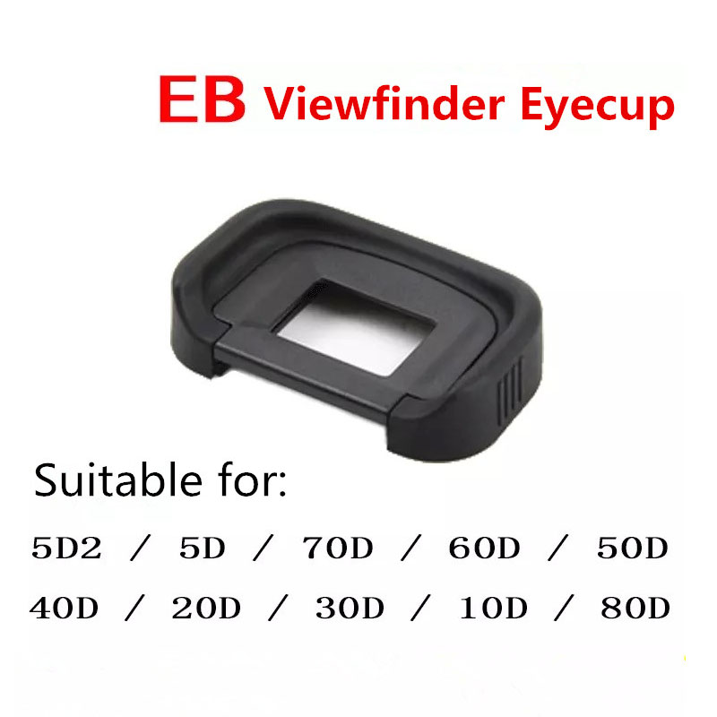 Rubber Eye Cup EB Viewfinder Eyecup for <font><b>Canon</b></font> EOS 10D 20D 30D 40D 50D 60D 70D 80D <font><b>5D</b></font> <font><b>5D</b></font> Mark II 6D 6DII DSLR Camera <font><b>Accessories</b></font> image