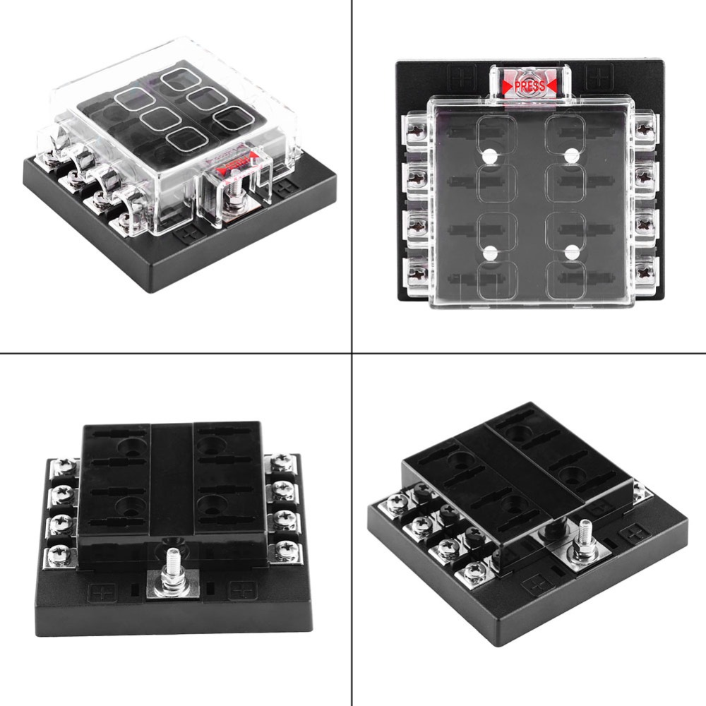 Dc 32v 8 Way Circuit Standard Blade Fuse Box Block Holder With 2011 Mazda 3 Terminal Connectors For Auto Car Truck Boat Atc Ato In Fuses From Automobiles Motorcycles