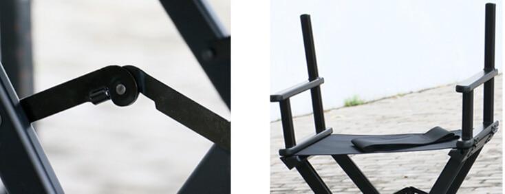 Hög aluminiumsram Makeupartist Direktör Stol Vikbar utomhusmöbler - Möbel - Foto 3