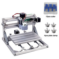 Eastshape DIY CNC 1.5A 240x180x45mm Area 3 Axis Plastic Acrylic PCB PVC Wood Carving CNC Router Milling Engraving Machine 2019