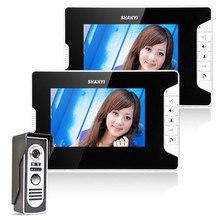 7 Inch Color LCD Monitor Video Door Phone Doorbell Intercom Kit ennio 7 900tvl color 2 monitor video door phone page 3 page 4