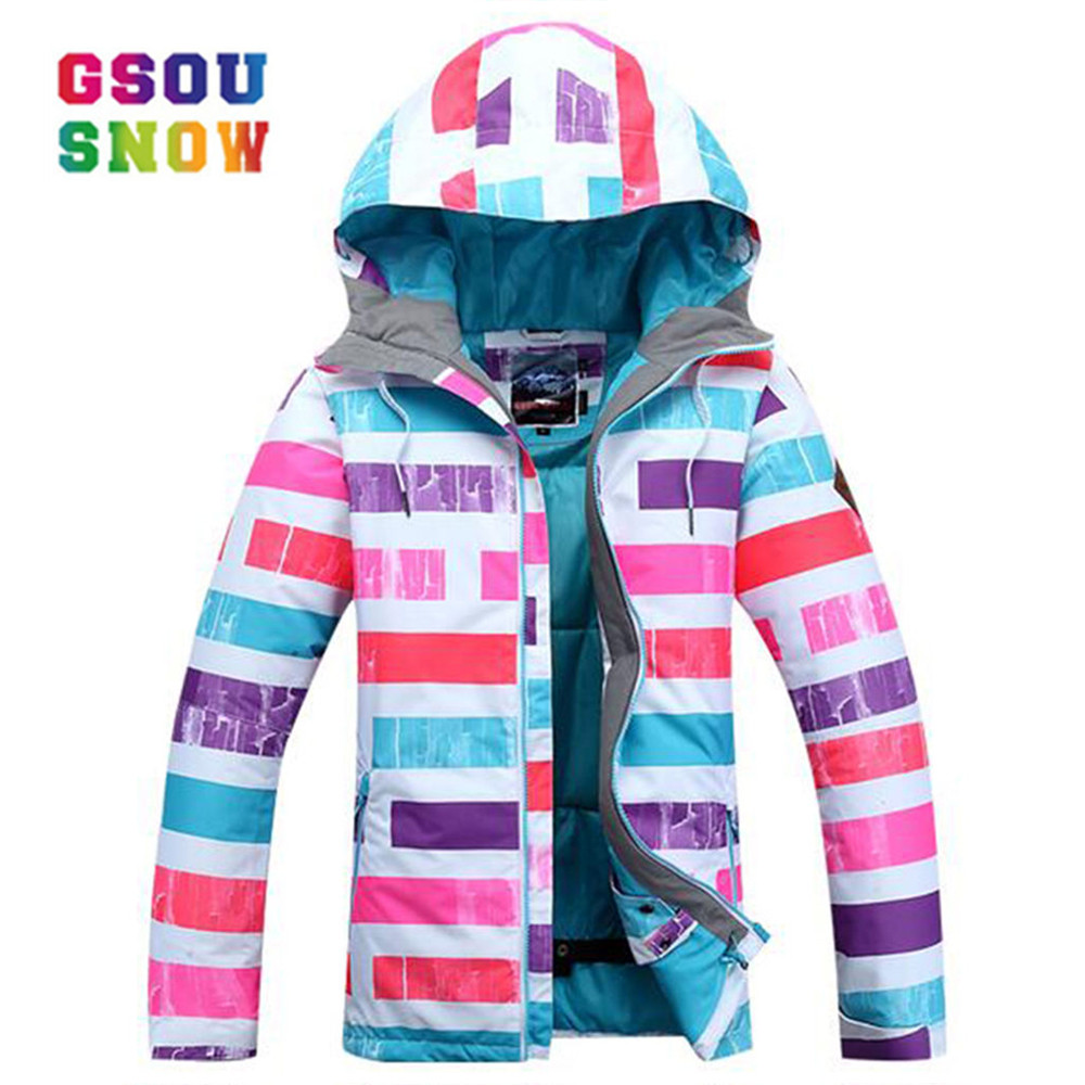 Gsou Snow Winter Ski For Girls Kids Waterproof Warm Snowboarding Ski Jacket Snowboard Outdoor Skiing Snow Wear Windproof vector warm winter ski jacket girls windproof waterproof children skiing snowboard jackets outdoor child snow coats kids