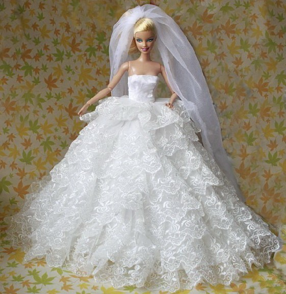 Excellent For Barbies Doll Luxurious Nine Layers Wedding