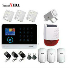 SmartYIBA WIFI GRPS Home Burglar Security Protection Alarm System Wireless Door Magnetic Sensor Solar Siren Infared Alarm Kits