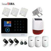 Smartyiba WI FI grps Главная охранной сигнализации защиты Системы Беспроводной двери магнитный Сенсор Солнечной Сирена дальним сигнализации Набор