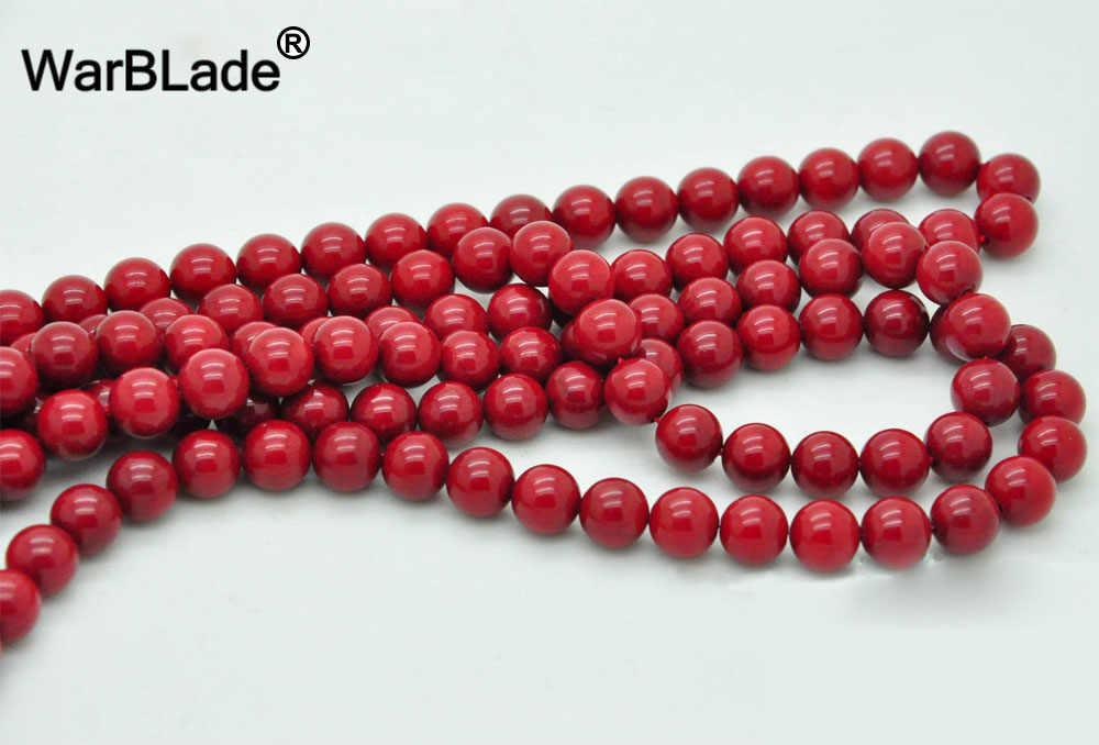 Chất Lượng cao Đá Tự Nhiên Red San Hô Hạt Vòng Loose Beads 4 mét 6 mét 8 mét 10 mét Cho DIY Bracelet Vòng Cổ Trang Sức Làm bán buôn