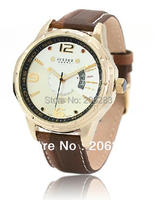 JAH-033 Moda özgünlük quartz saat erkek izle deri izle takvim ile 1 adet + ücretsiz kargo